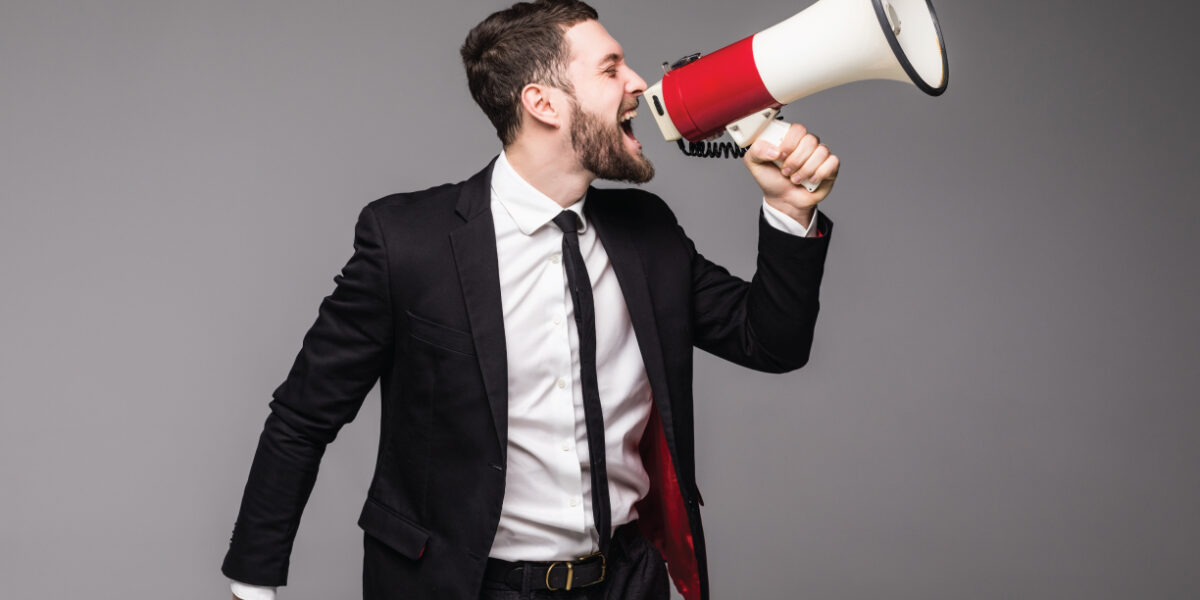Businessman with Megaphone